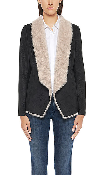 Casual fake-fur jacket
