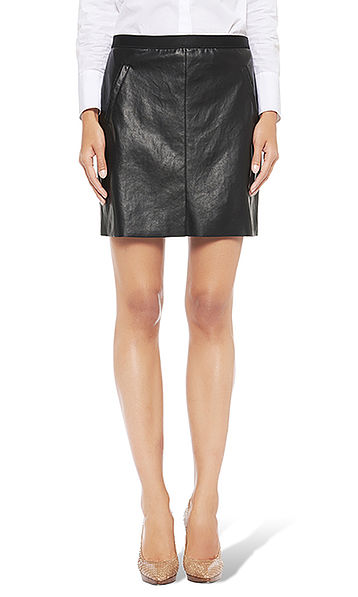 Mini-skirt in artificial leather