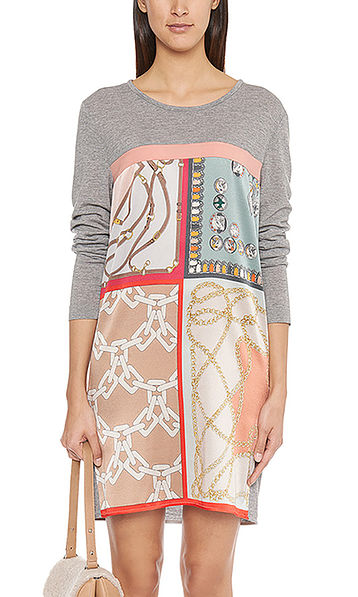 Striking dress with silk
