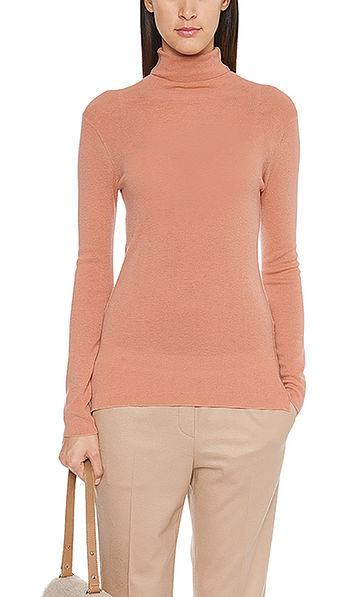 Fine rolled-neck pullover