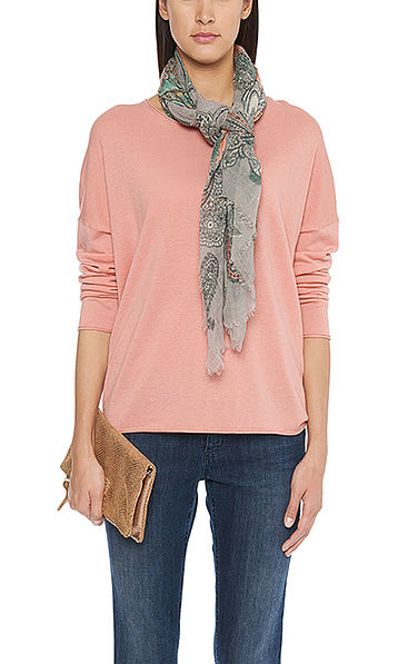 Sweater with silk and cashmere