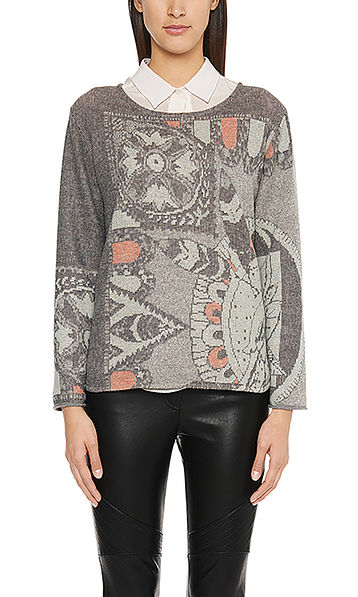 Pull-over en maille jacquard