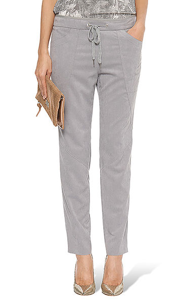 Pantalon d'aspect cuir velours