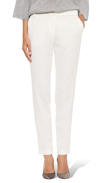 Pants in stretch crepe