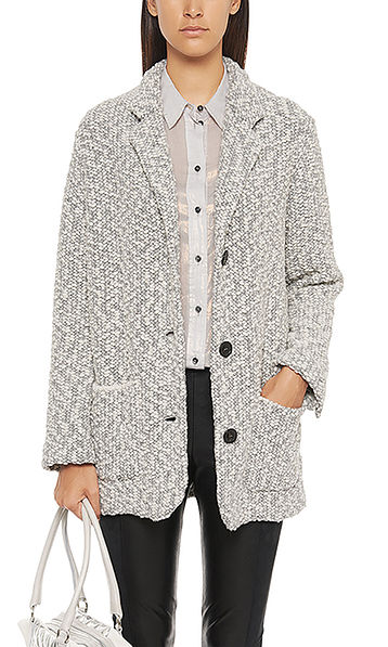Oversized Strickblazer