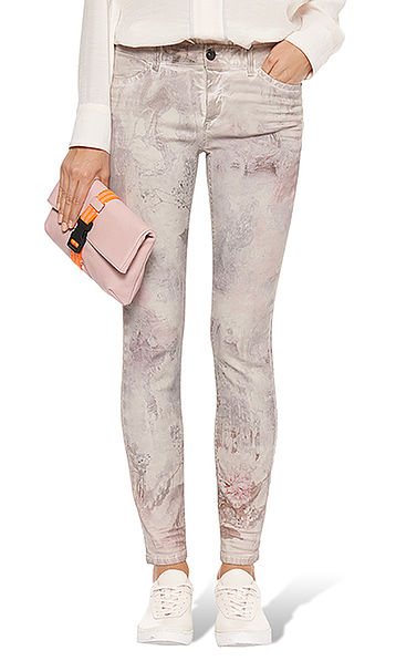 Printed jeans with stretch content