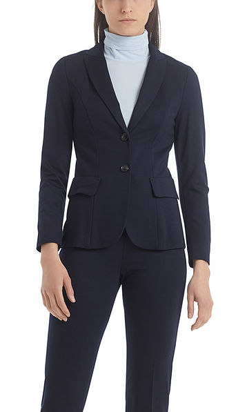 Narrow-fit jersey blazer