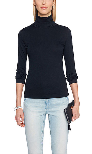 Fine ribbed top with long sleeves