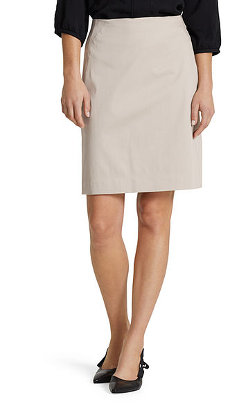 Skirt in stretch cotton