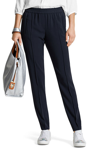 Trousers with jogging waistband