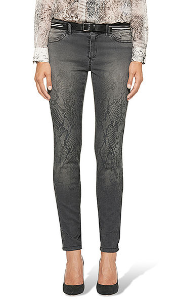 Jeans with snake print
