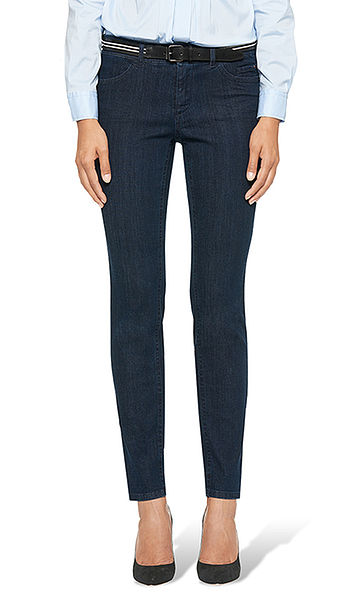 Jeans with dark washed effect
