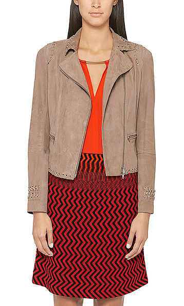 Jacket in suede leather
