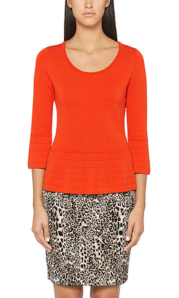 Pull-over en fine maille, coupe cloche