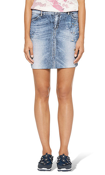 Printed mini-skirt