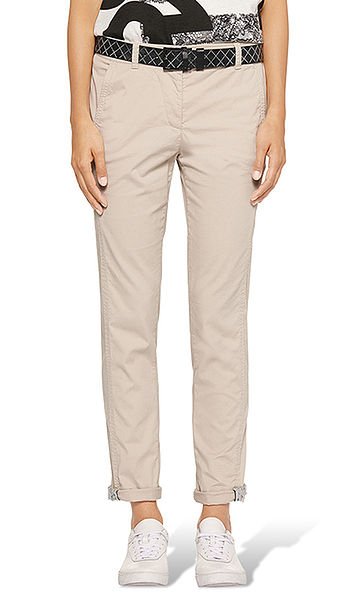 Chinos with lace