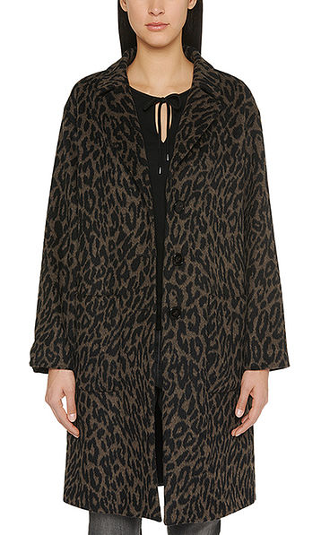 Coat with Jacquard pattern