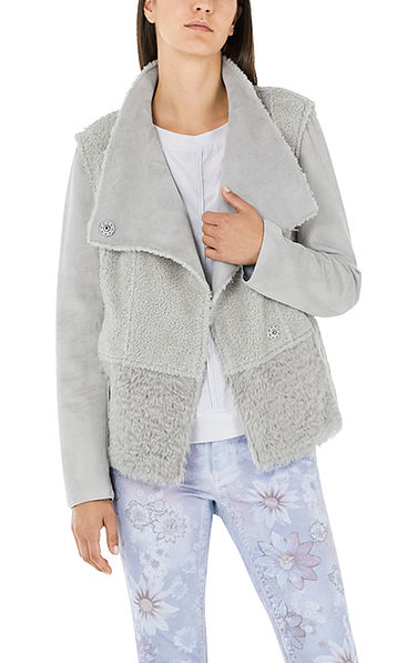 Stylishe Jacke in Lammfell-Optik