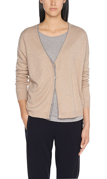 Fine knitted cashmere jacket