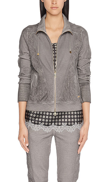 Cotton jacket with fine quilted pattern