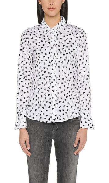 Blouse with heart print