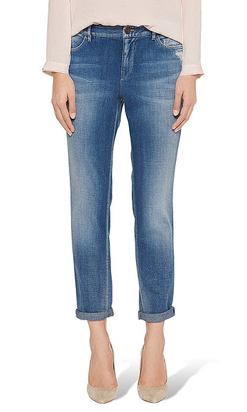 Jeans with small imitation pearls