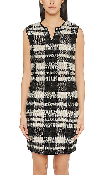Sheath dress in cotton