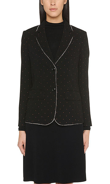 Elegant blazer with dotted print