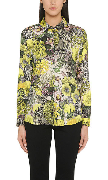 Silk blouse with floral print