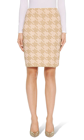 Skirt in pepita pattern Jacquard