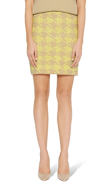 Skirt in houndstooth Jacquard