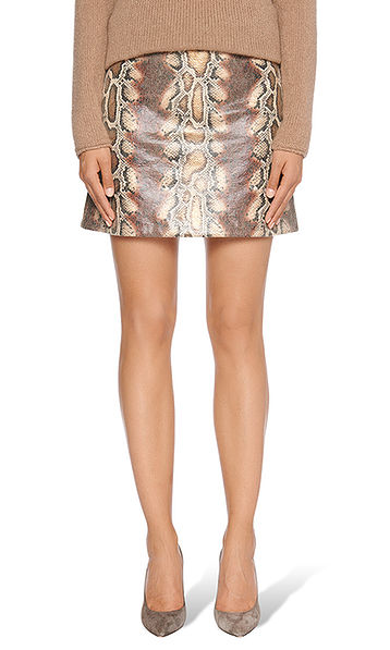 Skirt with snake print