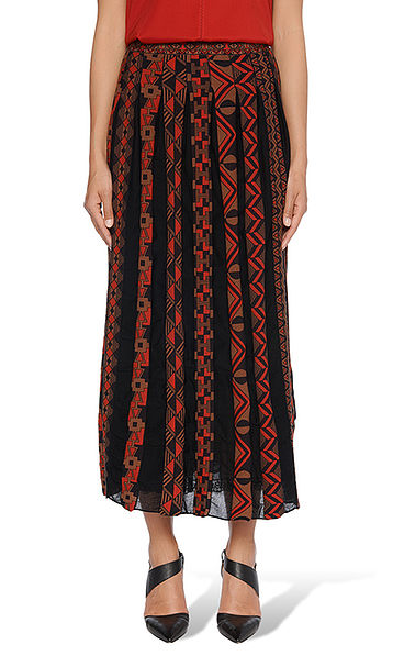 Jacquard skirt with ethnic pattern