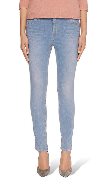 Cross-dyed jeans