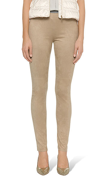 Leggings in imitation suede