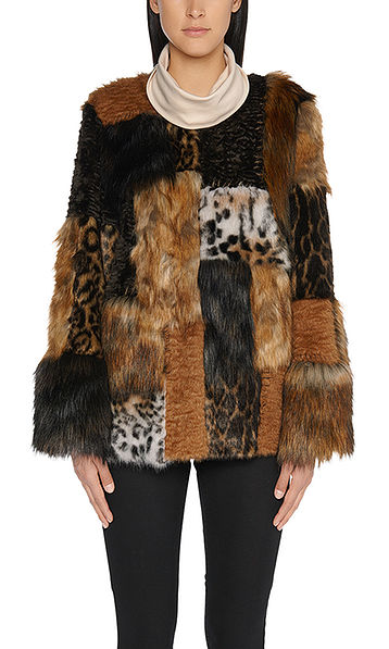 Luxuriöse Fun Fur Jacke