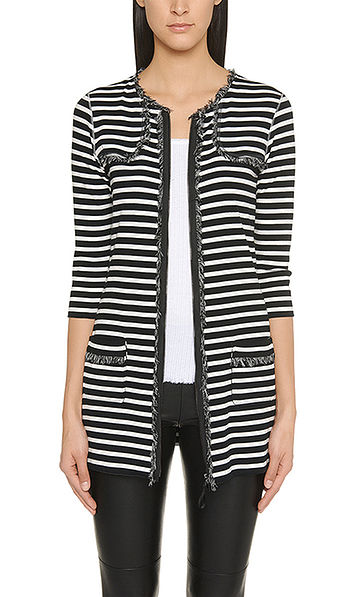 Striped stretch-cotton jacket