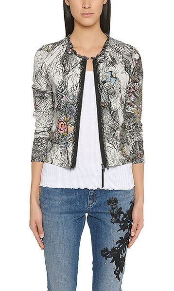Jacket with tattoo print