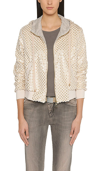 Cosy sequinned jacket