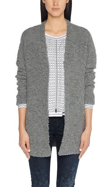 Knitted jacket with textured pattern
