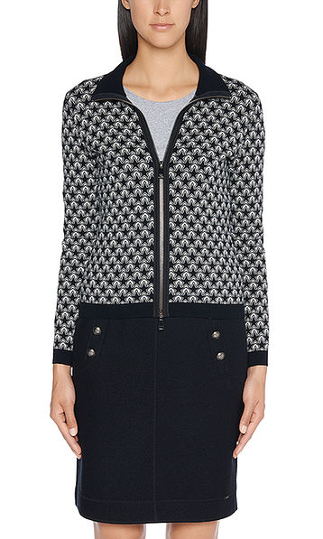 Knitted jacquard jacket with stars