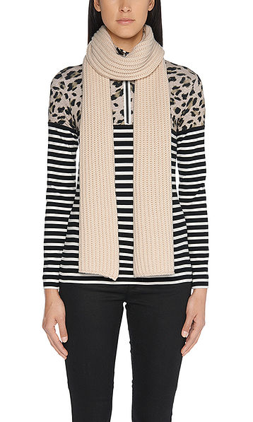 Striped top with leopard pattern