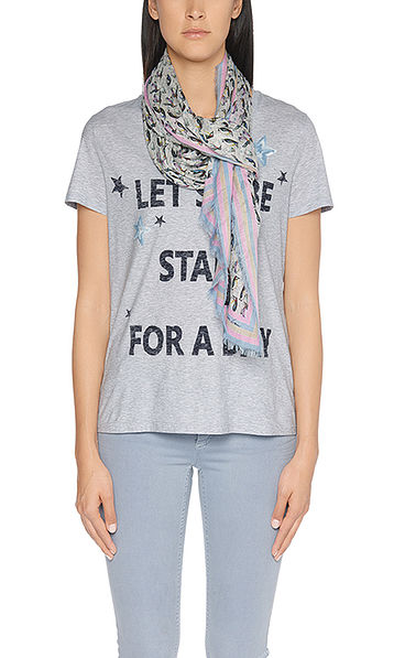 Katoenen shirt met statement-print