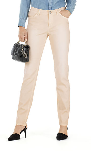 Trousers in elasticated cotton