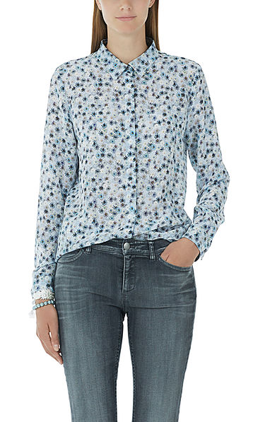 Silk blouse with small flowers