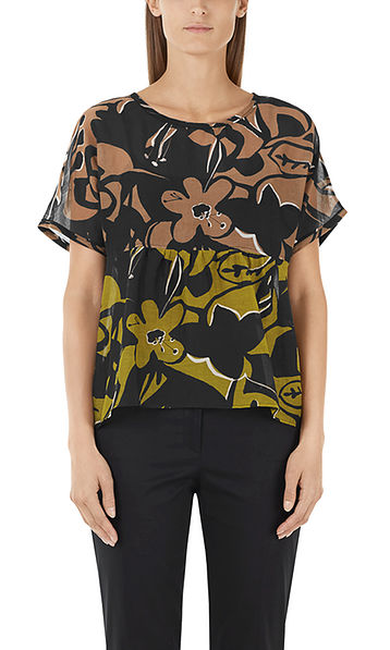 Printed blouse-shirt with silk