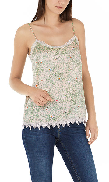 Top with lace decoration