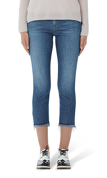 Jeans with fringed edges