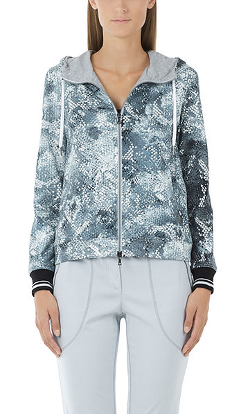 Jacket with snake print