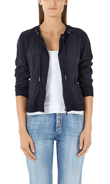 Jacket with drawstring